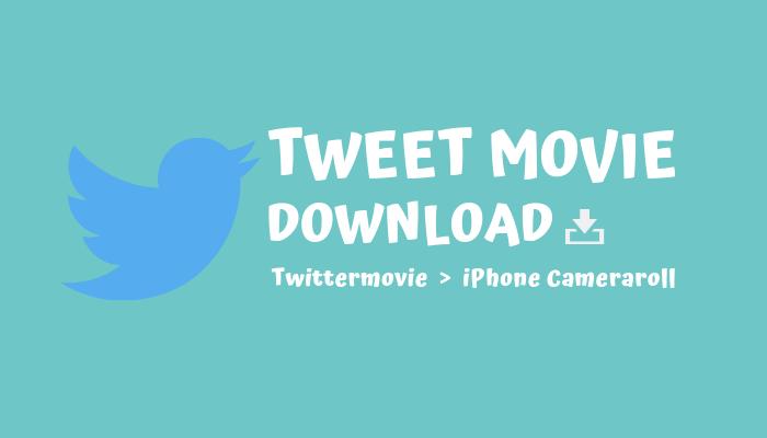 iPhoneでTwitterの動画をカメラロールに保存するもっとも簡単な方法