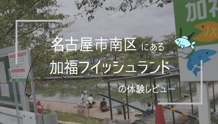 「加福フィッシュランド」の体験レビュー!ヘラブナ専門の珍しい釣り堀【名古屋南区】